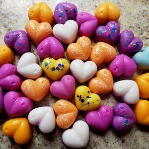 Raspberry Lavender Wax Melts 12 hearts